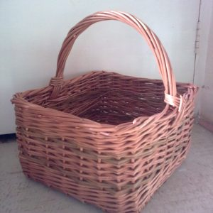 Square basket with handle