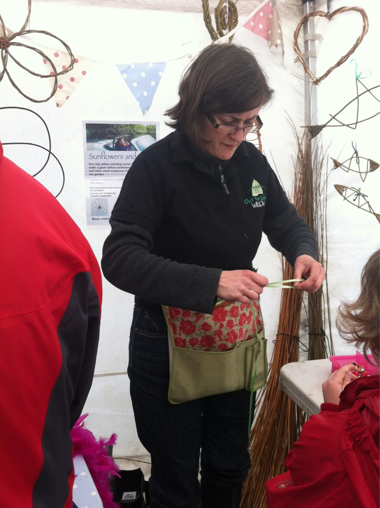 Sarah helping Out to Learn Willow at the RHS show April 2012
