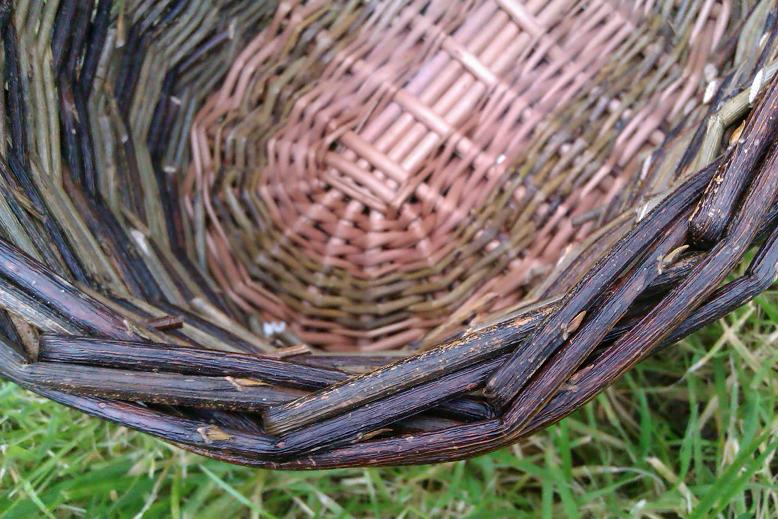 Medium oval basket border view