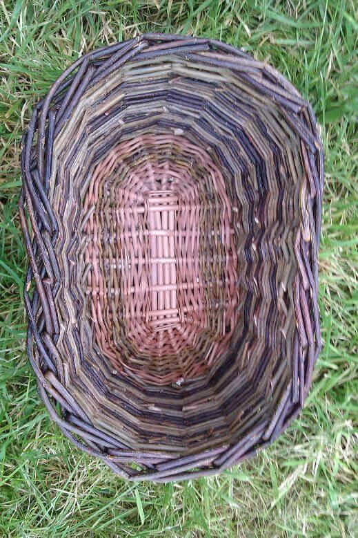 Medium oval basket top view