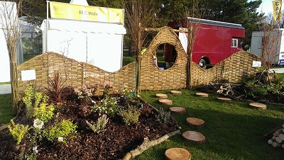 Willow hurdles RHS Cardiff Show 2015