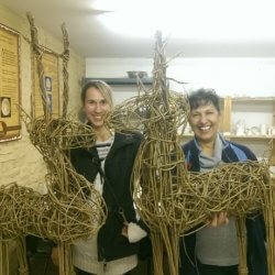Reindeer willow weaving course