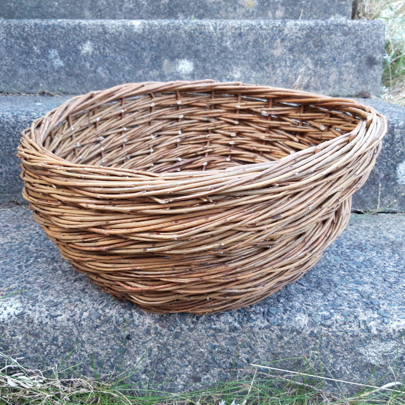 Rope coil basket