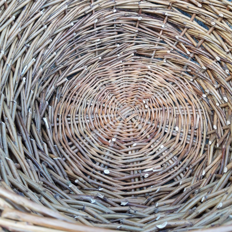 The base of the rope coil basket