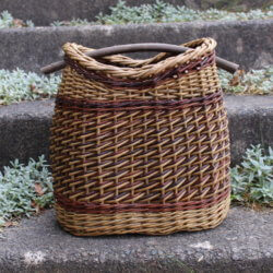 Contemporary basket with willow handle