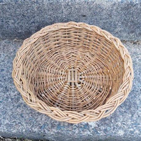 Round basket top view