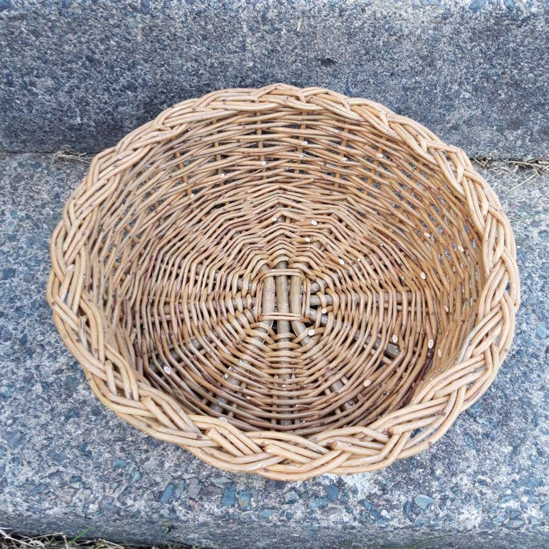 Round basket top view