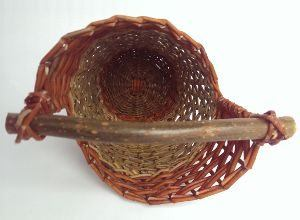 Basket with a twist