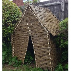 Childrens willow play den