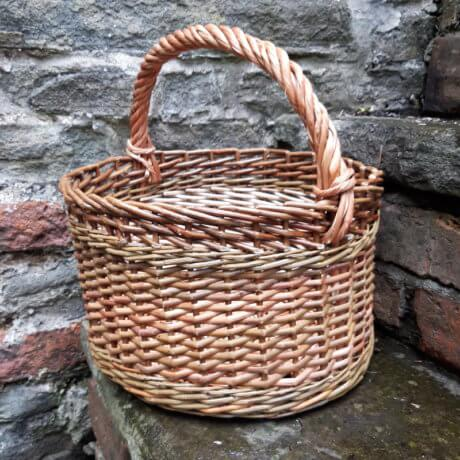 Side view of cleaved willow basket