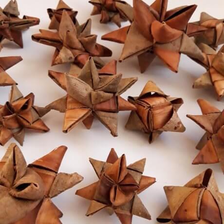 Christmas bark stars