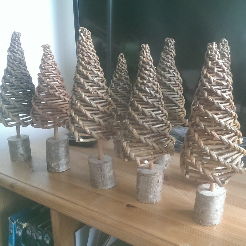 Corn dolly Christmas trees